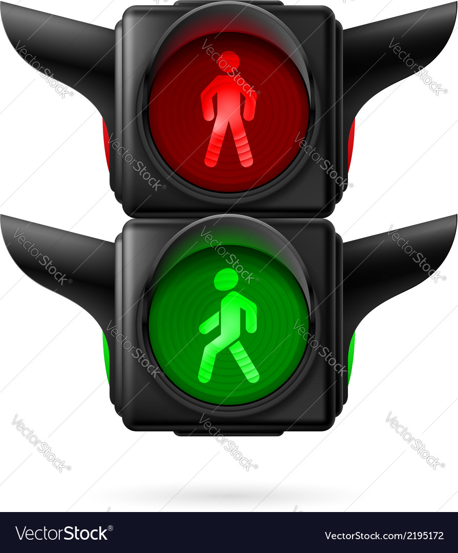Pedestrian traffic light vector | Price: 1 Credit (USD $1)