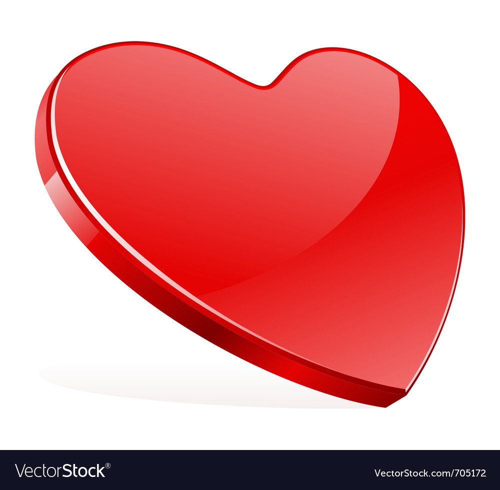 Red shiny heart shape vector | Price: 1 Credit (USD $1)