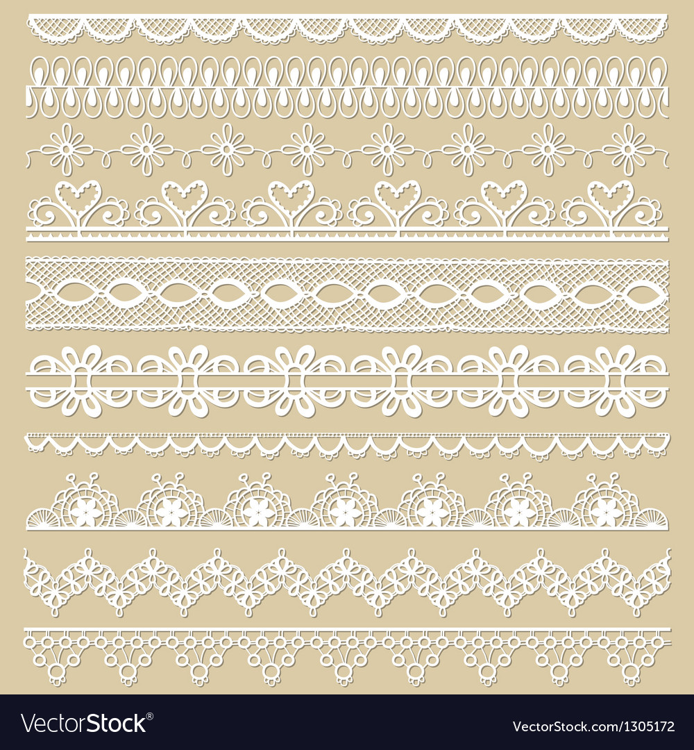 Set of lace ribbons vector | Price: 1 Credit (USD $1)
