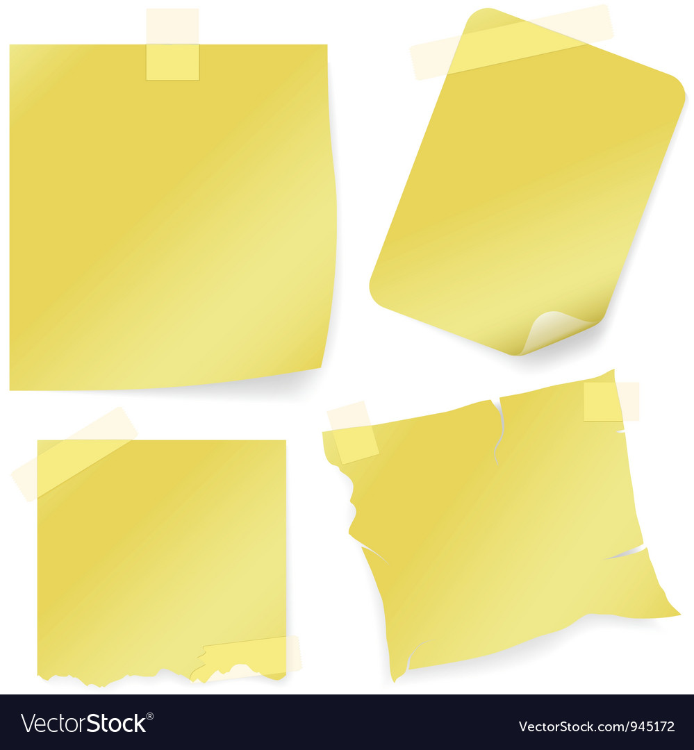 Sticky note icon vector | Price: 1 Credit (USD $1)
