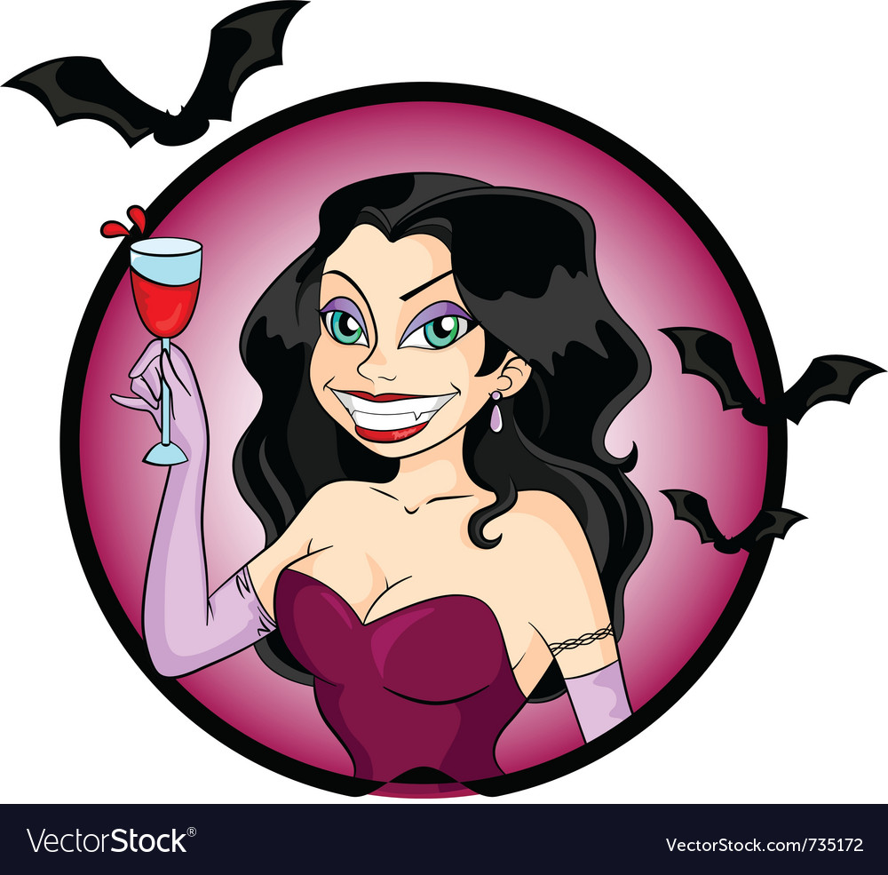 Vampire woman vector | Price: 3 Credit (USD $3)