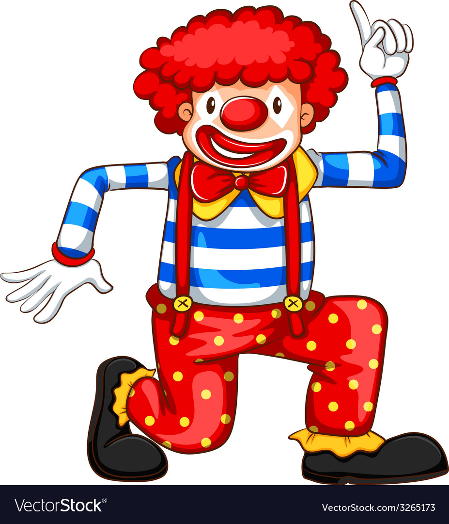 A playful clown vector | Price: 1 Credit (USD $1)