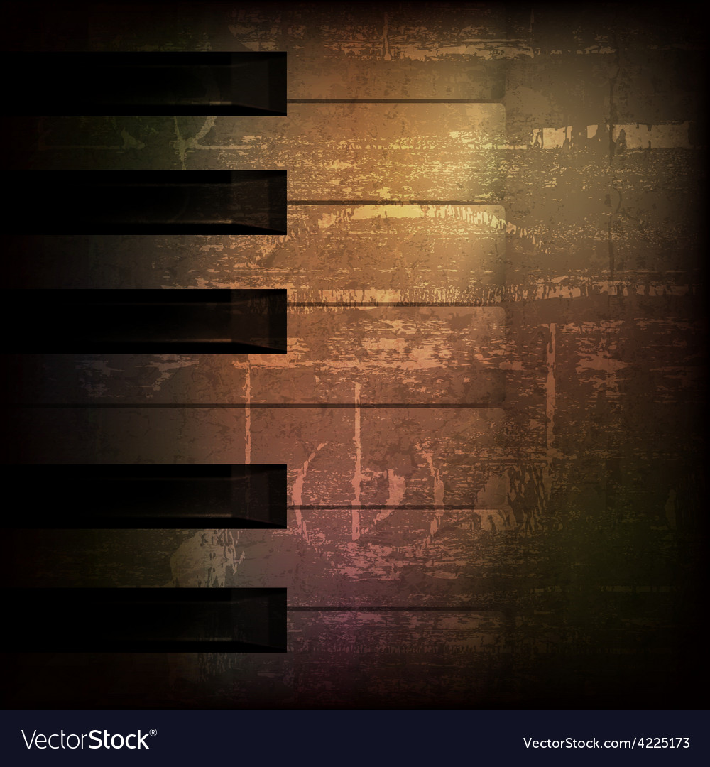 Abstract brown grunge music background with piano vector | Price: 3 Credit (USD $3)