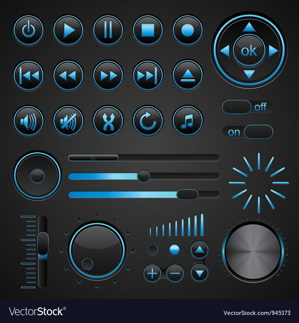 Control panel vector | Price: 3 Credit (USD $3)