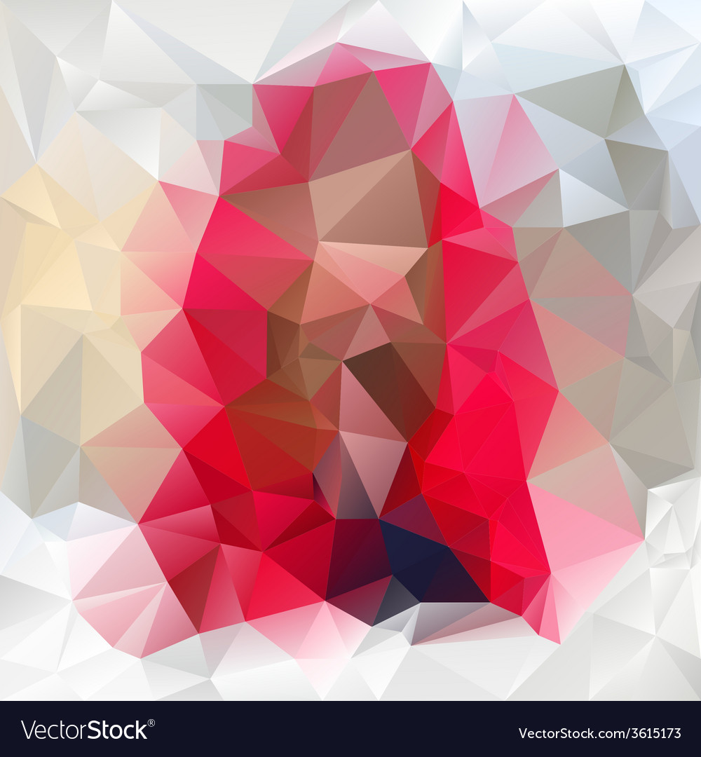 Gemstone pink polygonal triangular pattern vector | Price: 1 Credit (USD $1)