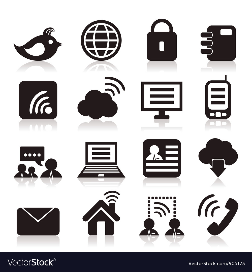 Icon communication vector | Price: 1 Credit (USD $1)