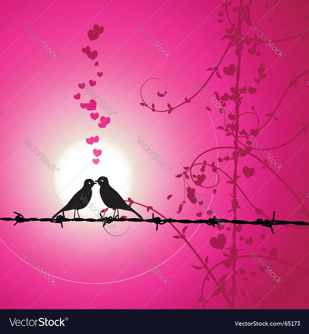 Love birds kissing vector | Price: 1 Credit (USD $1)