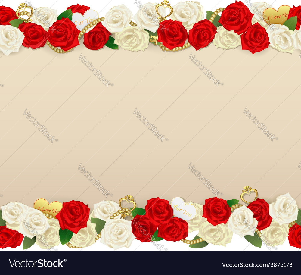 Romantic flower frame vector | Price: 3 Credit (USD $3)