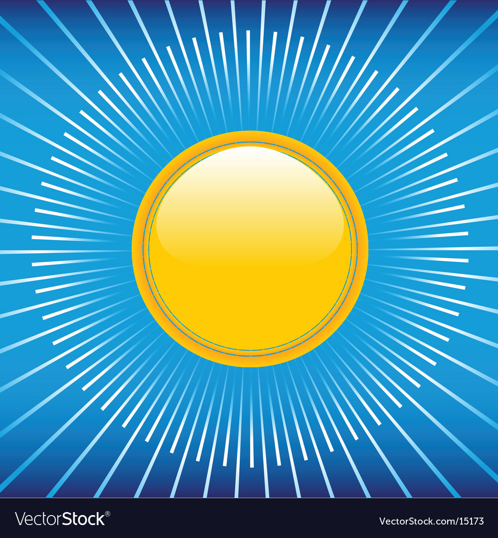 Summer blue sky and sun vector | Price: 1 Credit (USD $1)