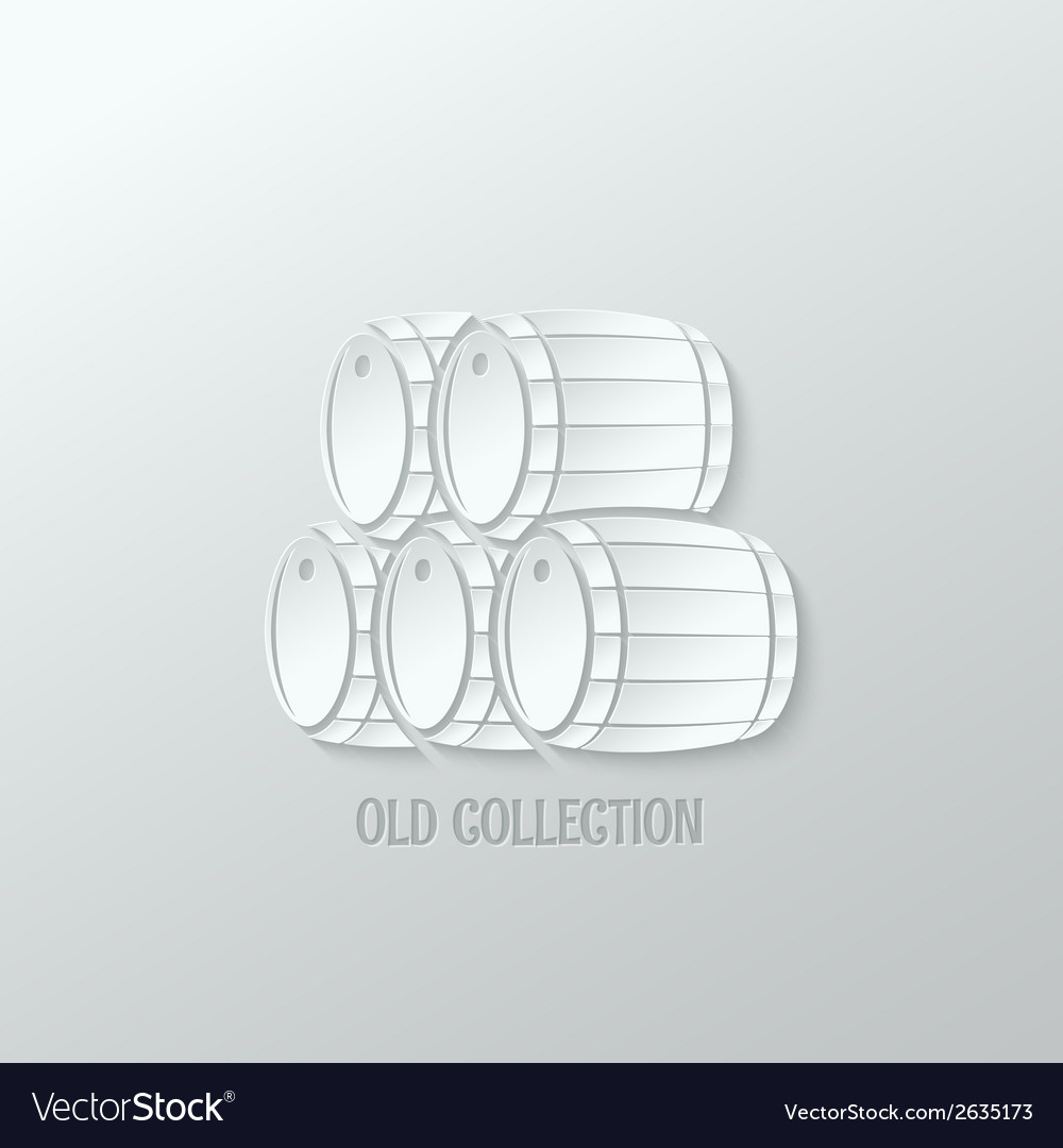 Wine barrel paper cut design background vector | Price: 1 Credit (USD $1)