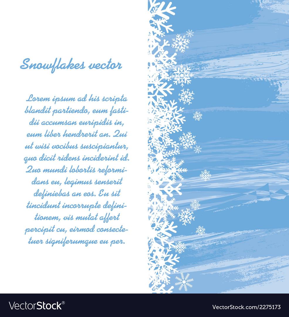 Winter background design vector | Price: 1 Credit (USD $1)