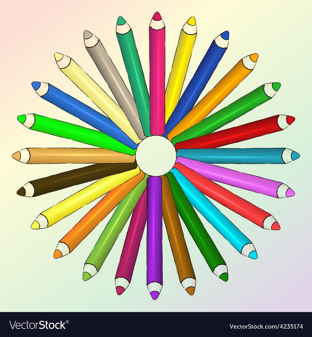 Arts concept with pencils vector   Price: 1 Credit (USD $1)