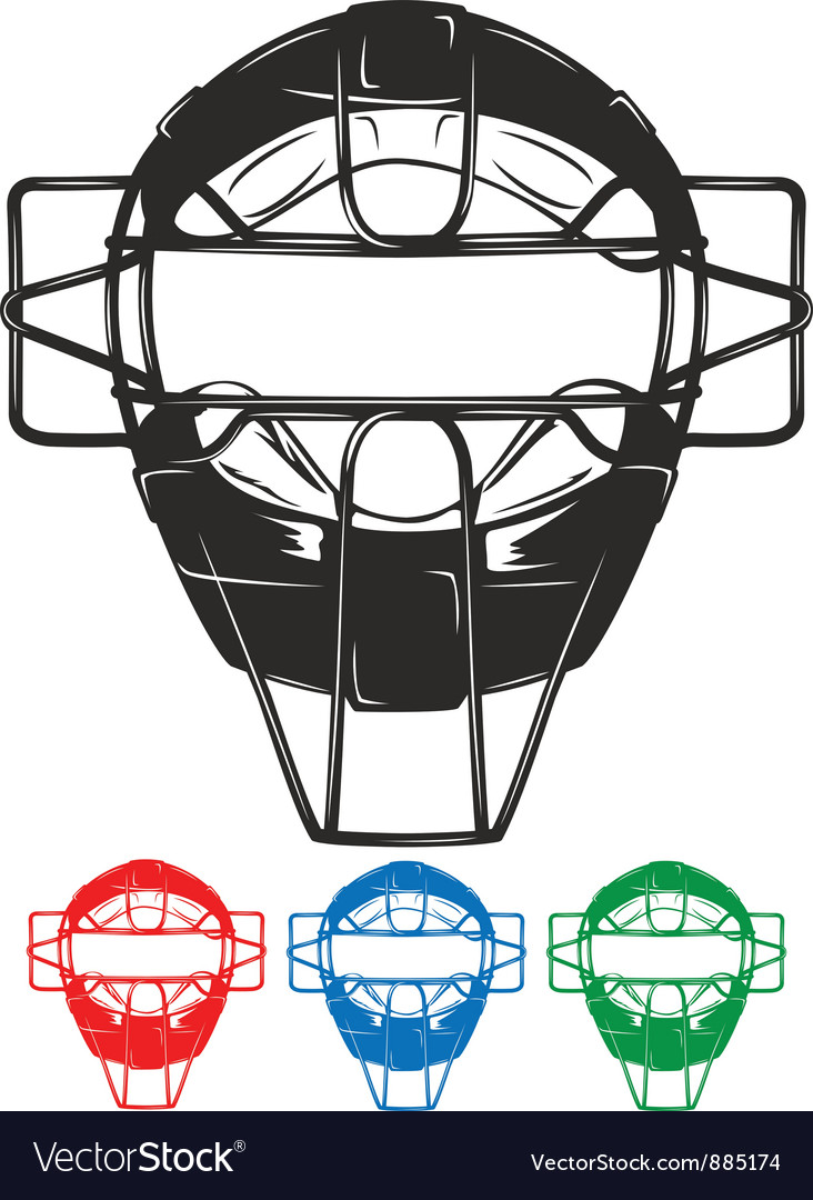 Baseball mask vector | Price: 1 Credit (USD $1)