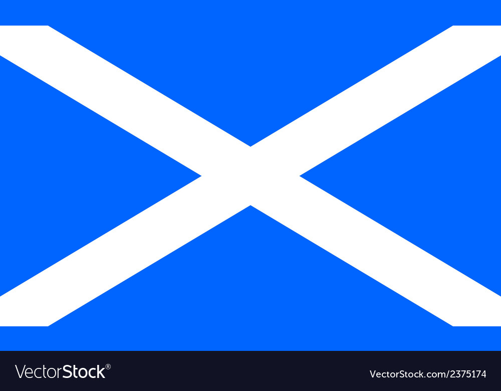 Flag of scotland vector | Price: 1 Credit (USD $1)