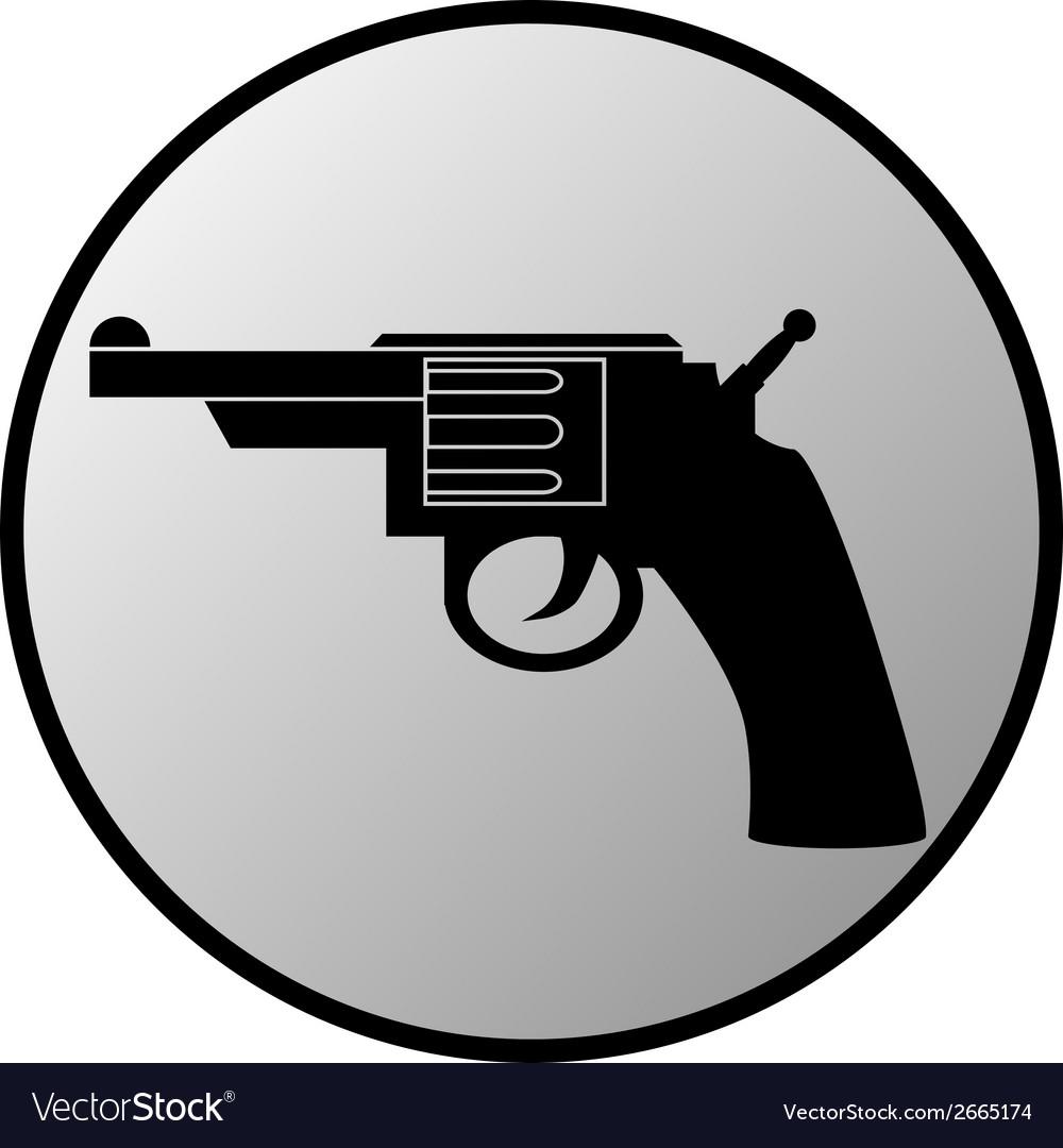 Gun button vector | Price: 1 Credit (USD $1)