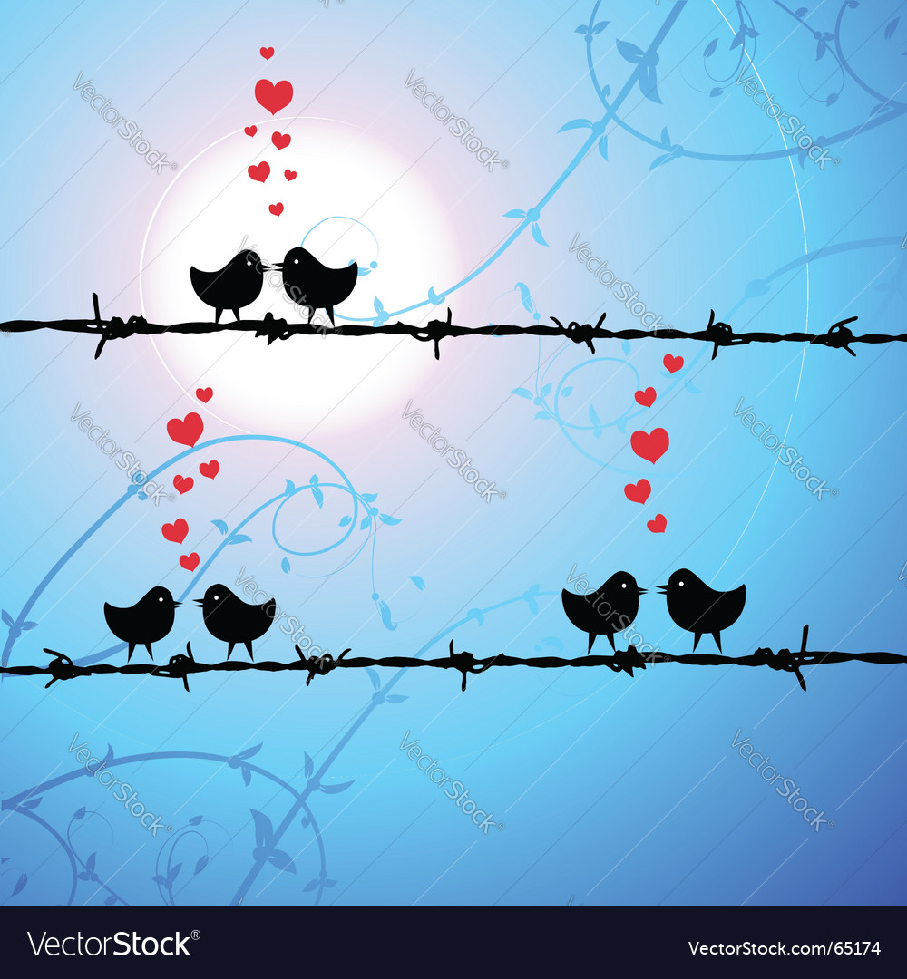 Love birds kissing vector | Price: 1 Credit (USD $1)