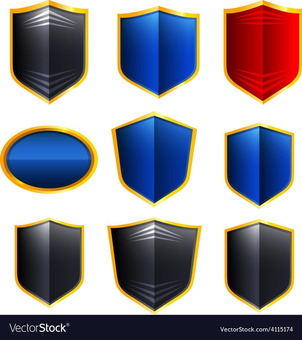 Metal badges vector | Price: 1 Credit (USD $1)