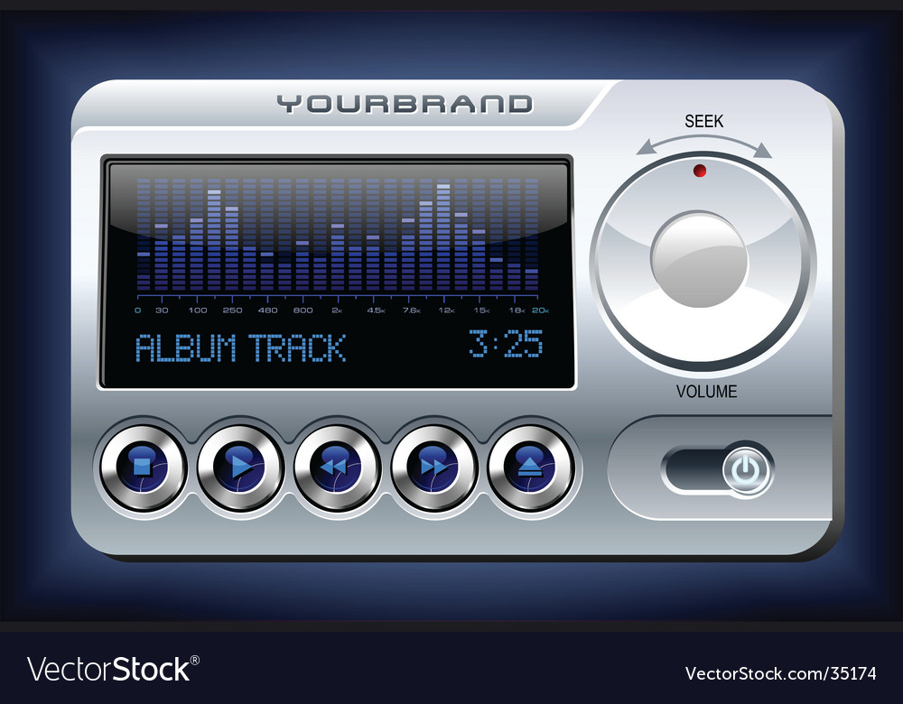 Music player with spectrum analyzer vector | Price: 5 Credit (USD $5)
