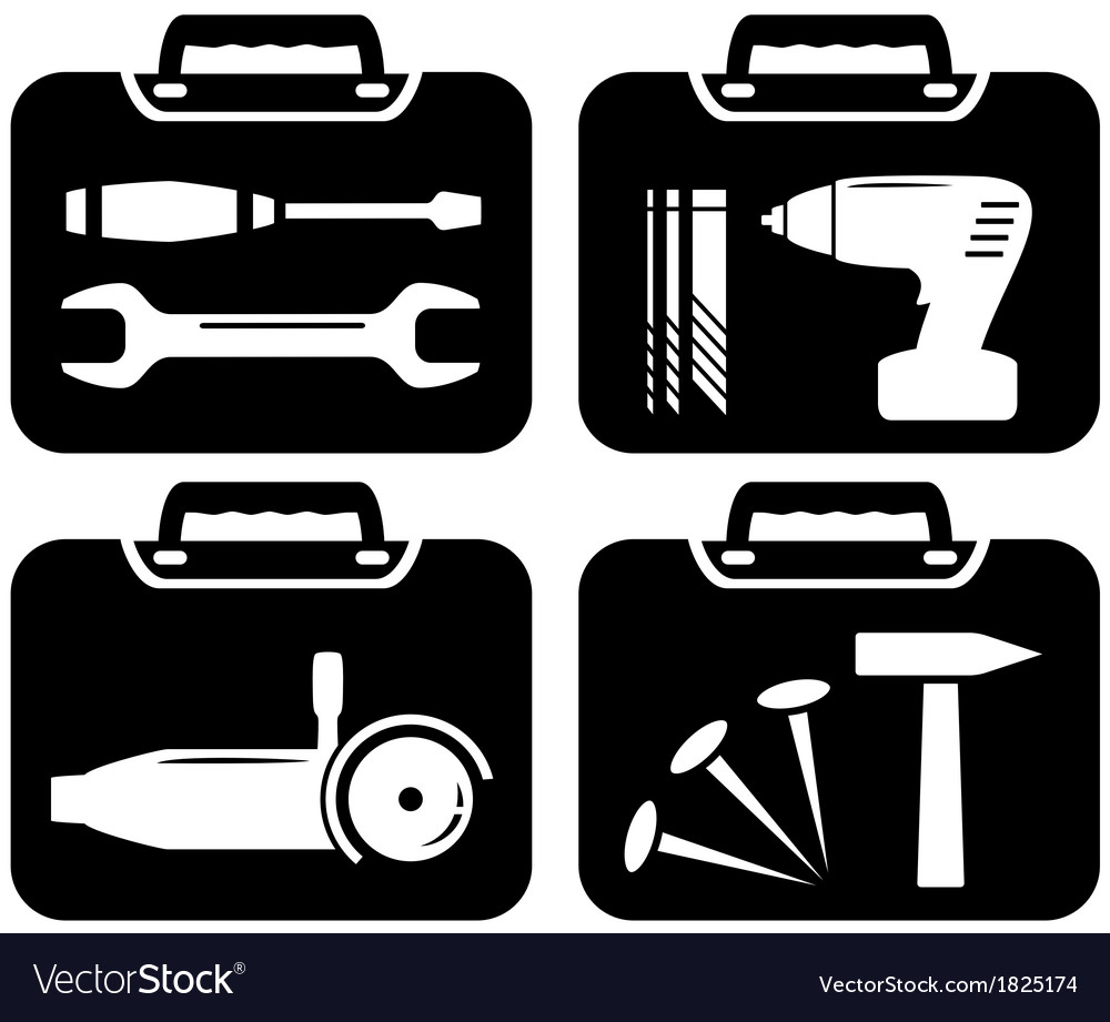 Portfolio and tools for repair vector | Price: 1 Credit (USD $1)