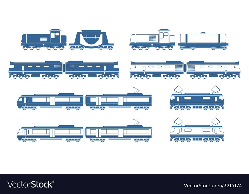 Trains vector | Price: 1 Credit (USD $1)