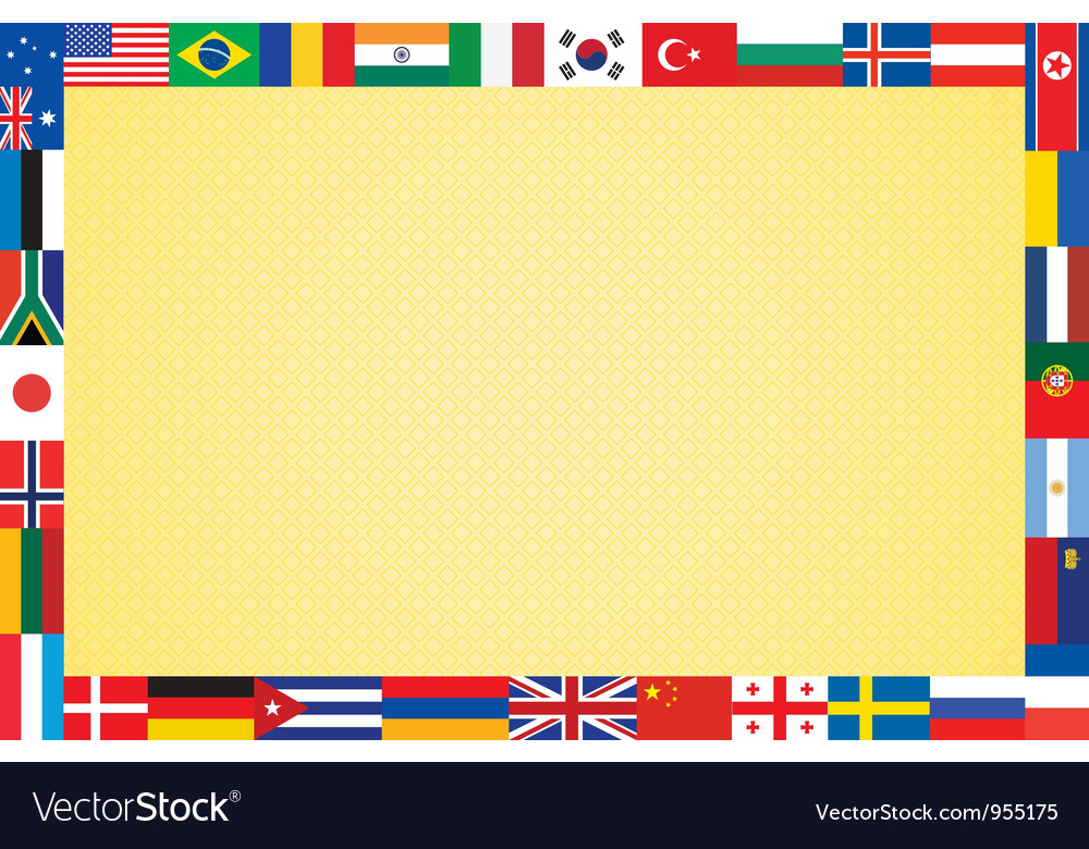 Background with flags vector | Price: 1 Credit (USD $1)