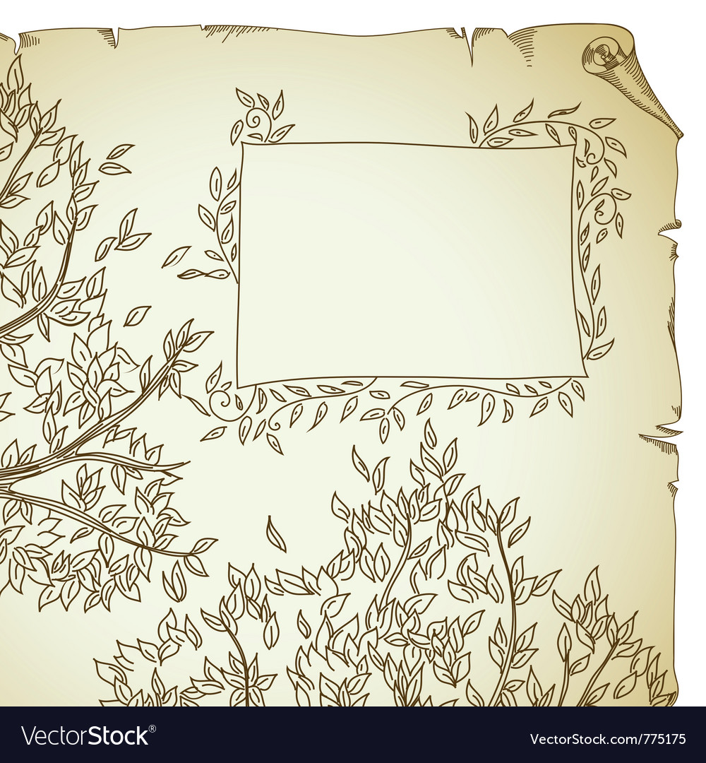 Background with tree vector | Price: 1 Credit (USD $1)