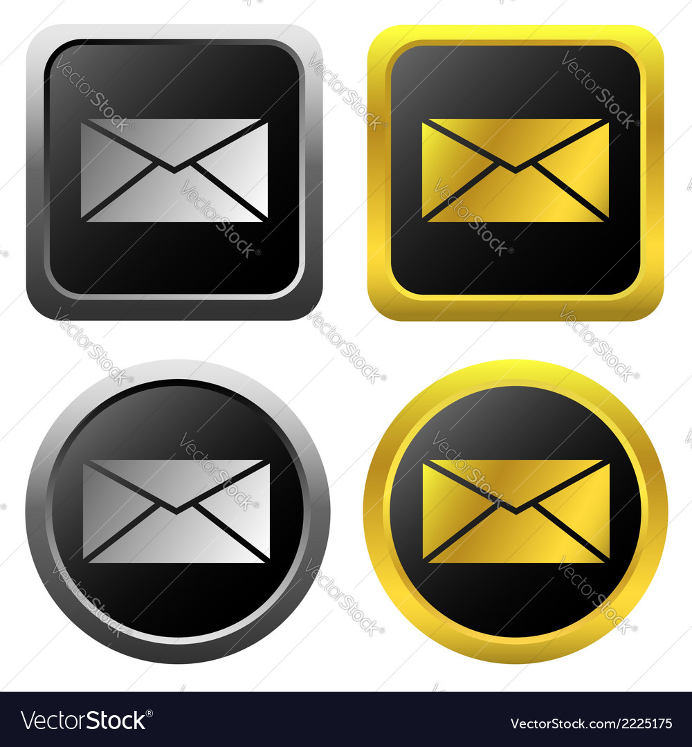 Email message icons vector | Price: 1 Credit (USD $1)