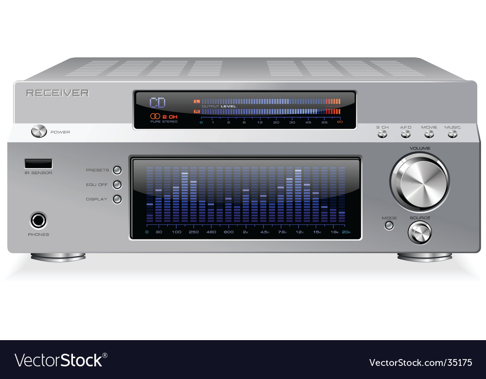 Hi-fi receiver vector | Price: 5 Credit (USD $5)