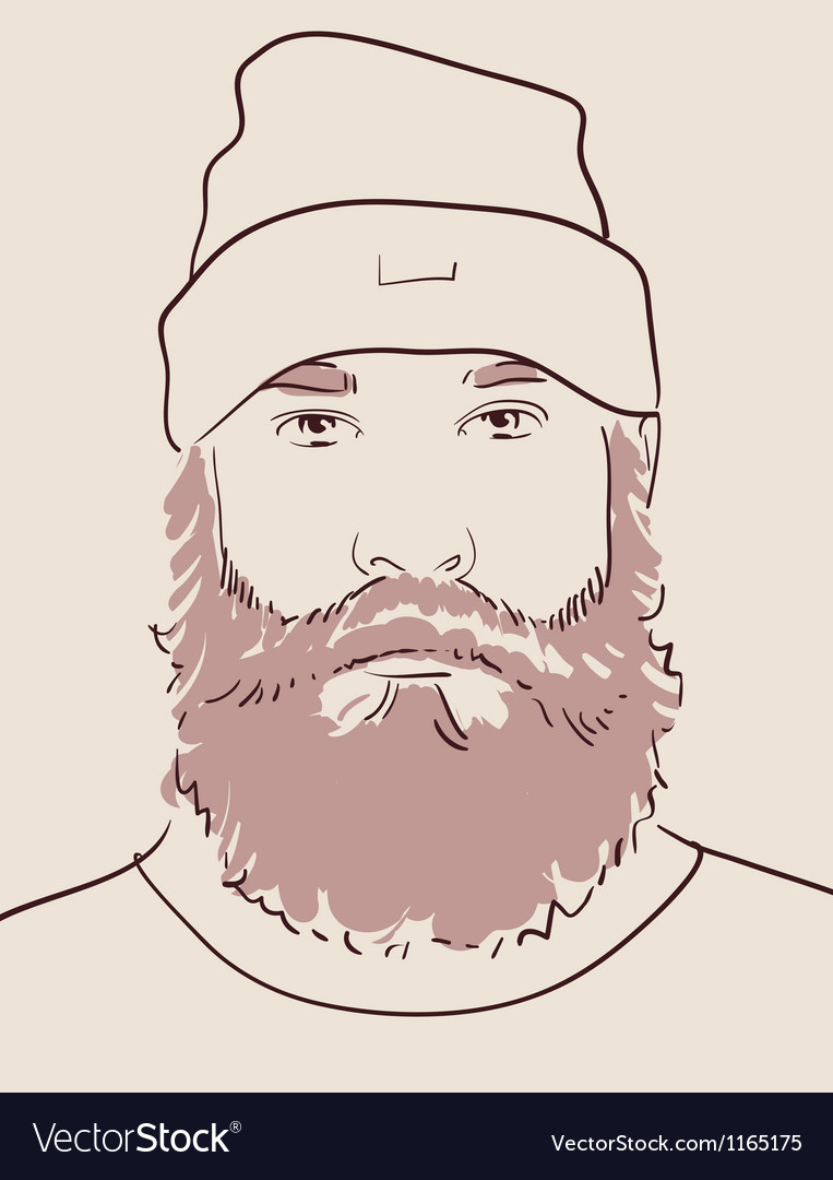 Man with beard and mustache vector | Price: 1 Credit (USD $1)