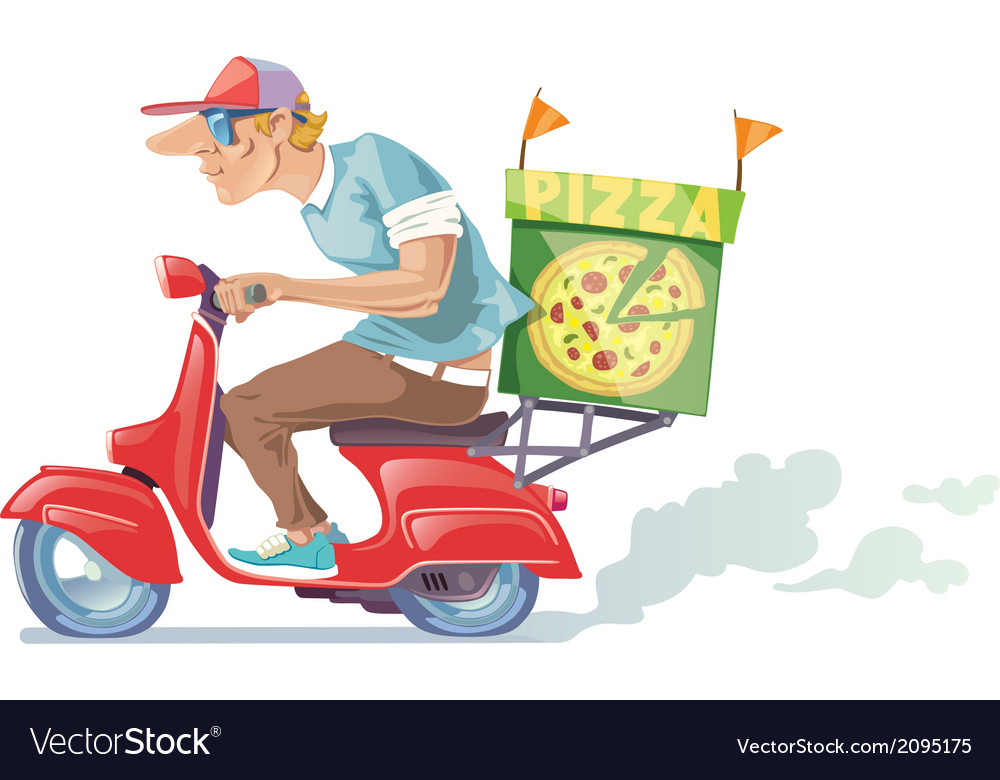 Pizza delivery vector | Price: 3 Credit (USD $3)
