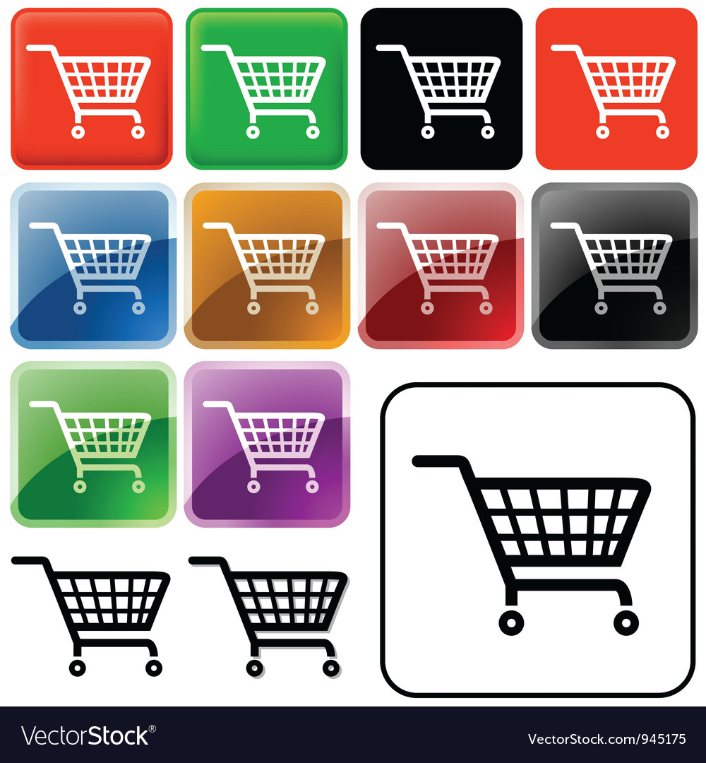 Shopping basket sign vector | Price: 1 Credit (USD $1)