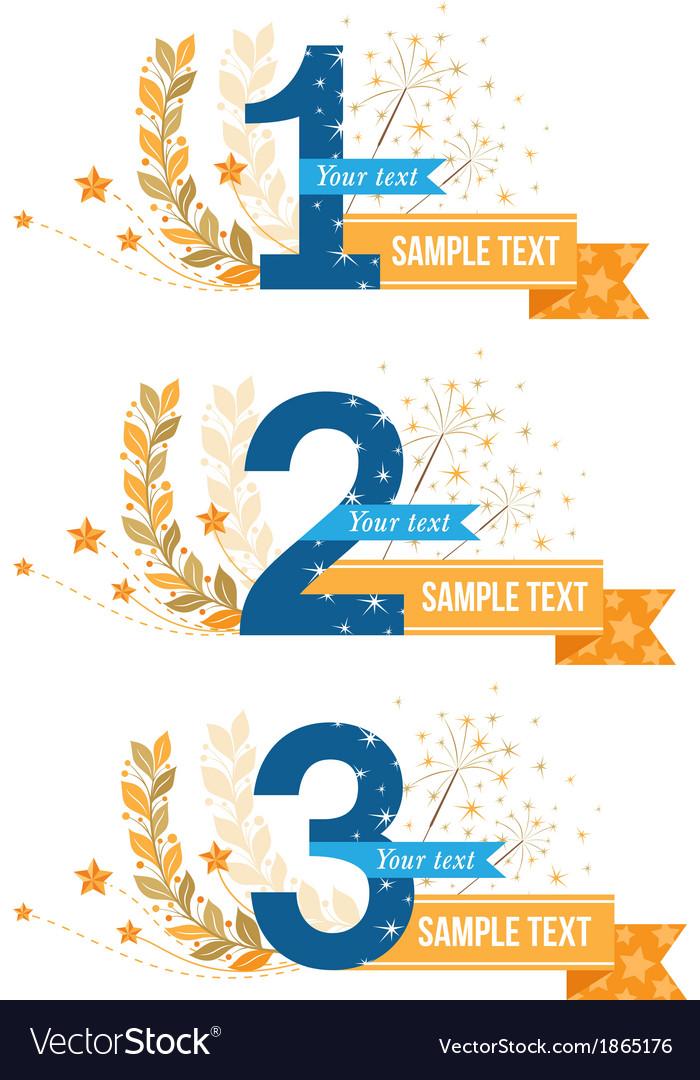 Awards emblems set vector | Price: 1 Credit (USD $1)