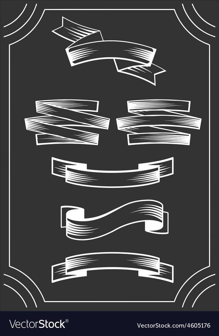 Banners on blackboard vector | Price: 1 Credit (USD $1)