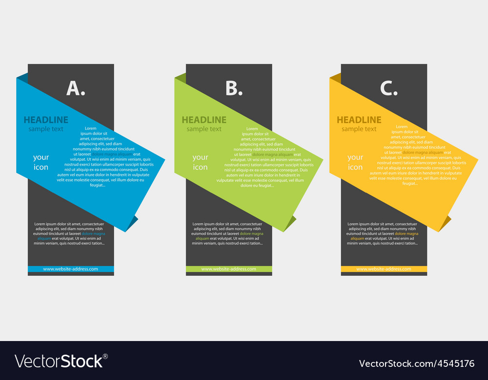 Creative colored column with headline vector | Price: 1 Credit (USD $1)
