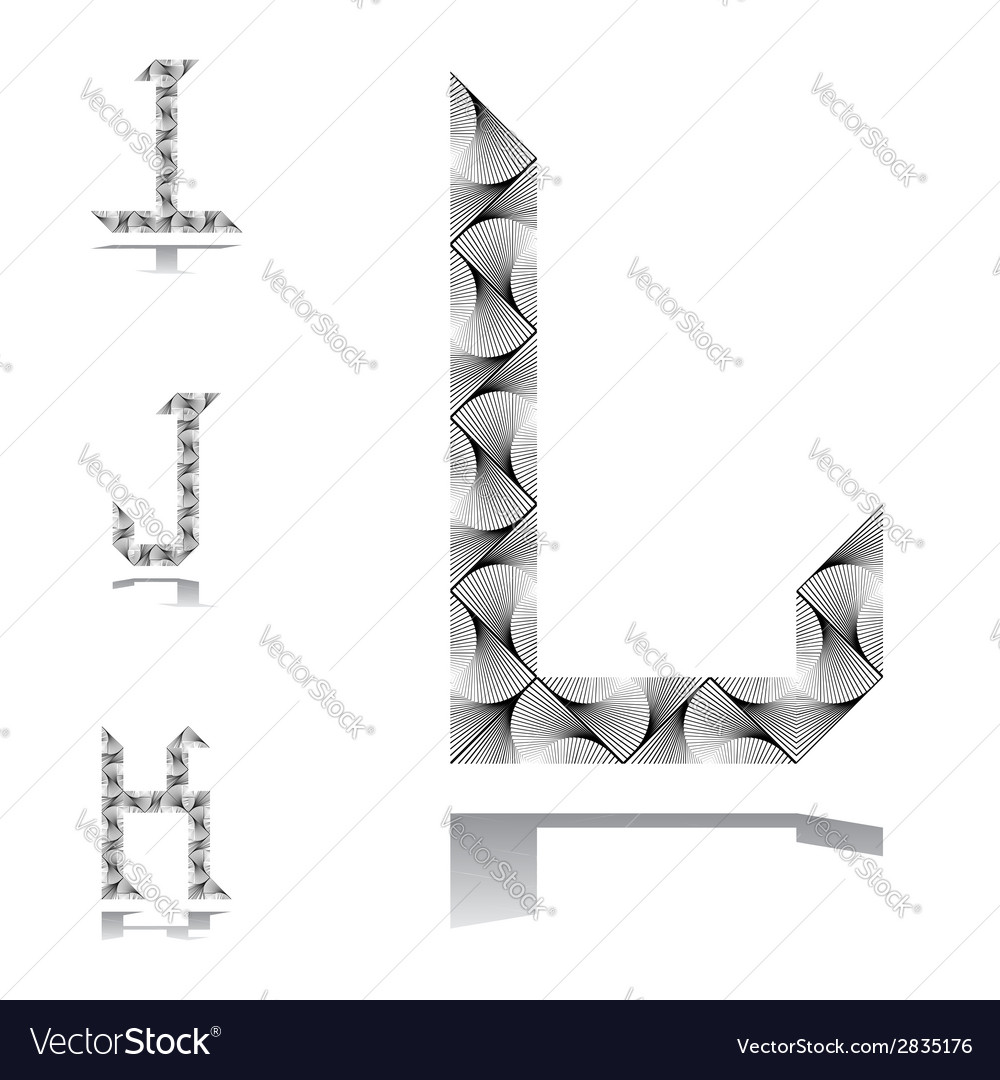 Design abc letters from i to l vector | Price: 1 Credit (USD $1)