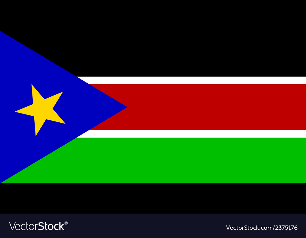 Flag of south sudan vector | Price: 1 Credit (USD $1)