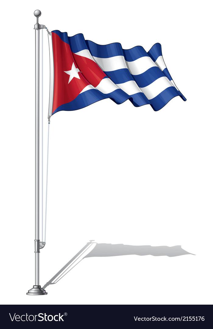 Flag pole cuba vector | Price: 1 Credit (USD $1)