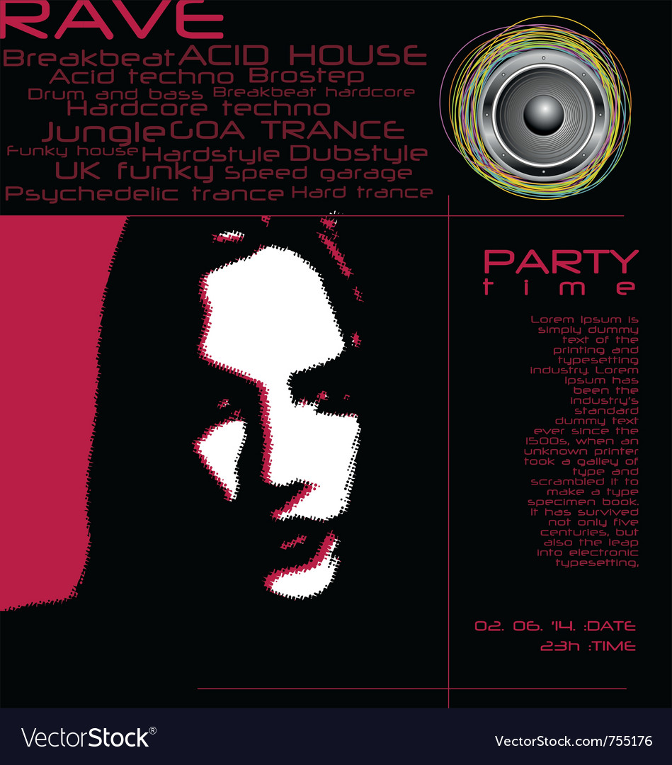Flyer design - party time vector | Price: 1 Credit (USD $1)