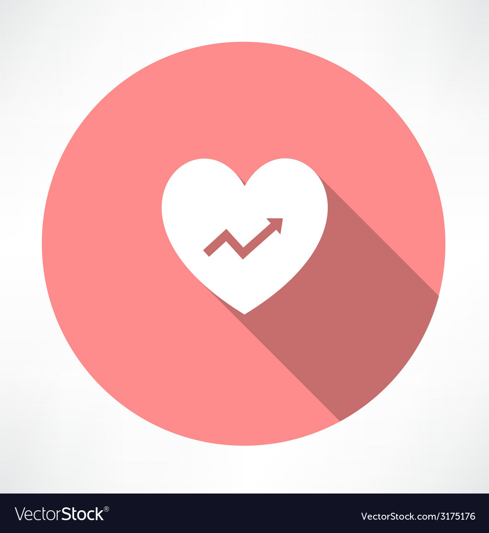Heart with chart icon vector | Price: 1 Credit (USD $1)