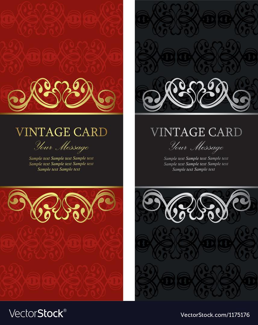 Luxury vintage cards vector | Price: 1 Credit (USD $1)