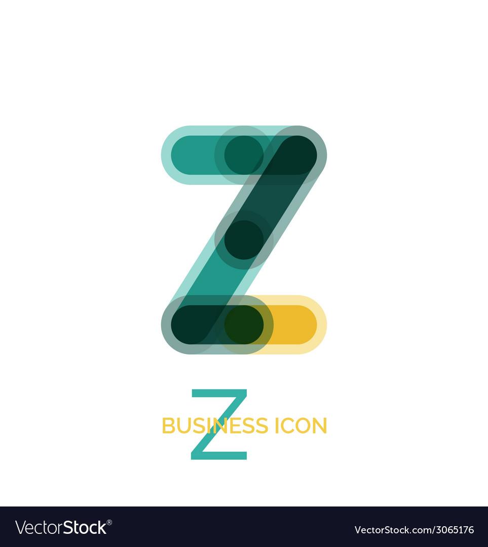 Minimal line font design letter z vector | Price: 1 Credit (USD $1)