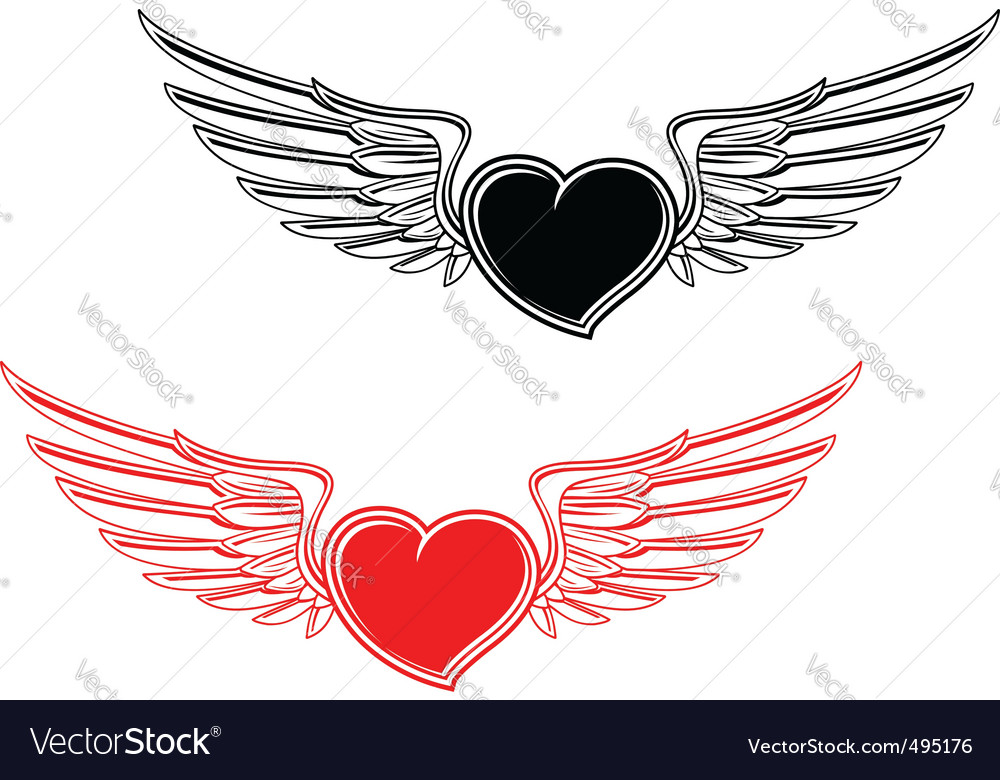 Retro heart tattoo vector | Price: 1 Credit (USD $1)