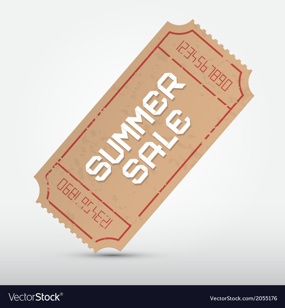 Summer sale ticket vector | Price: 1 Credit (USD $1)