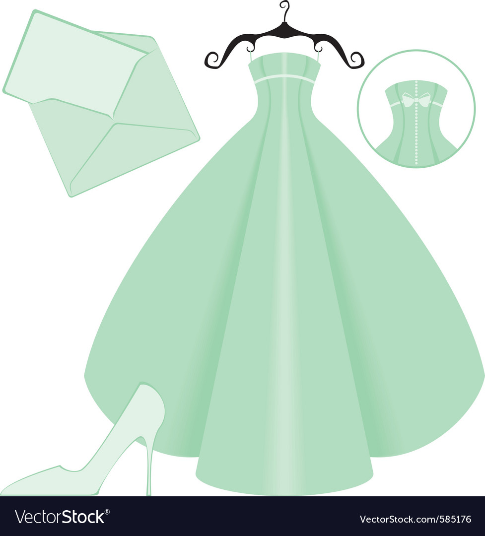 Wedding in green vector | Price: 1 Credit (USD $1)