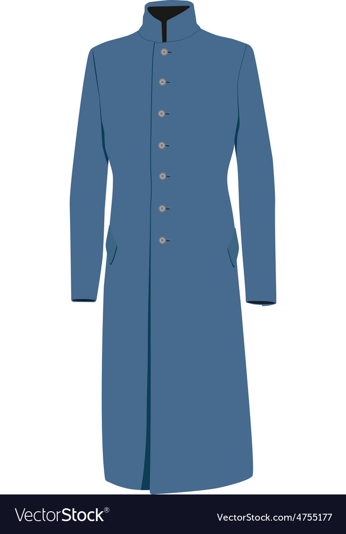 Blue coat vector | Price: 1 Credit (USD $1)