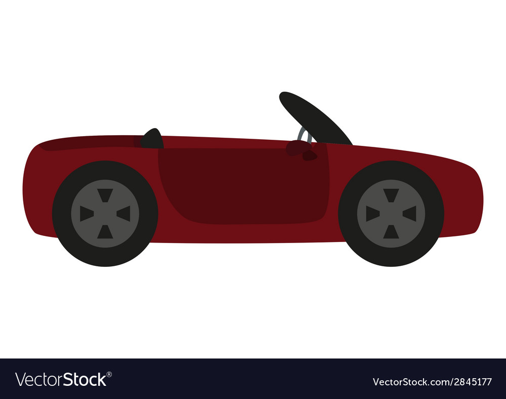Cartoon car isolated on white background vector | Price: 1 Credit (USD $1)