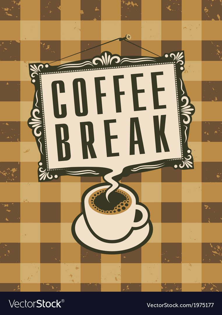 Coffee break vector | Price: 1 Credit (USD $1)