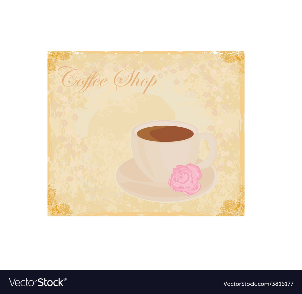 Cup of coffee with abstract design elements - vector | Price: 1 Credit (USD $1)