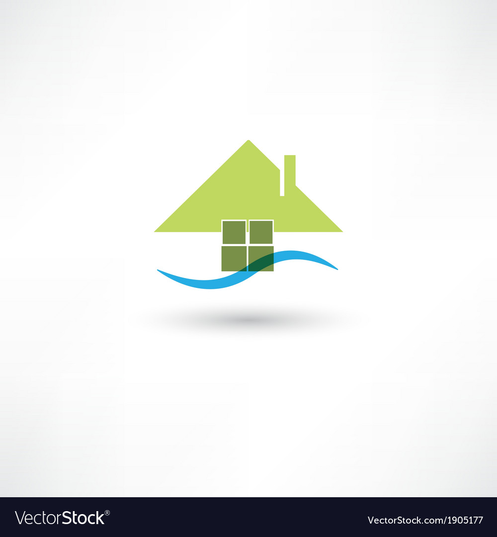 Green house symbol vector | Price: 1 Credit (USD $1)