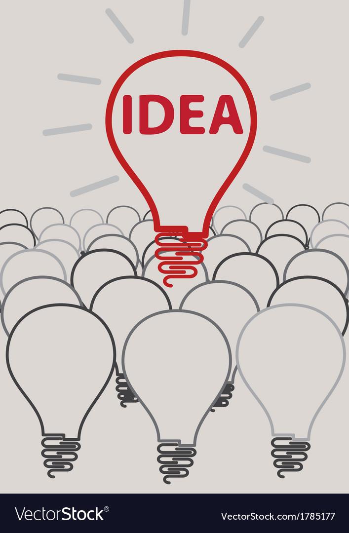Idea light bulb concept creative design vector | Price: 1 Credit (USD $1)